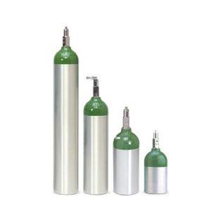 Tubos de Aluminio Oxigeno Medicinal